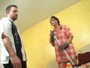 Horny housewife enjoys big dick free