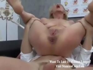 Granny fucked doki in gyno exam free
