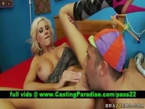 Puma Swede busty blonde blowjob and licked