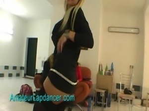 Sexy lapdance by czech blonde chick free