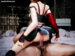 Animated riding a huge black cock