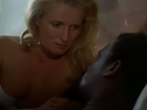 Blonde white woman with black man - Softcore Interracial
