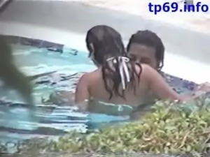 Caught Fucking in the Motel pool free