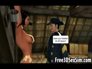Sexy 3D cartoon indian babe getting her pussy licked free