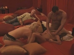 Group sex of hunk guys and sexy babes