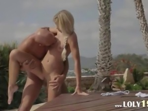 Vacation fantasy with beautiful blond