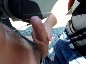 Big cock public Handjob