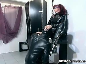 Nasty redhead whore loves domination