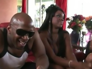 Two black couples fucking each other