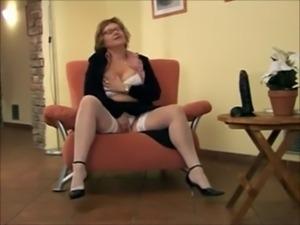 Big Titted Mature & Dildo - Best Scene