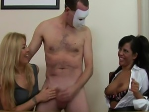 CFNM babes get cum from their subject for their game