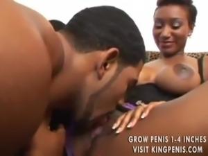 Intensely sexy black pornstar goes black free