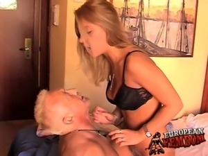 Young bitch humiliates him every single time free