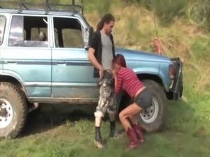 Aussie amateur girl gives boyfriend  outdoor blowjob free