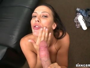 sexy rachel starr giving blowjob