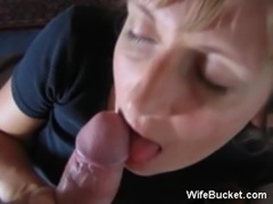 Dirty wife blowjob and fucking