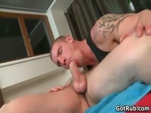 Hot muscled guy takes big rigid boner part6