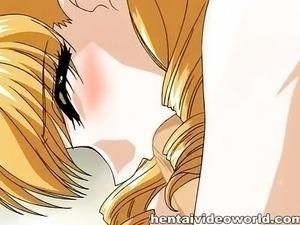 Hentai blonde teen in bed
