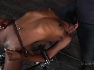 tied black slut tastes her white executor