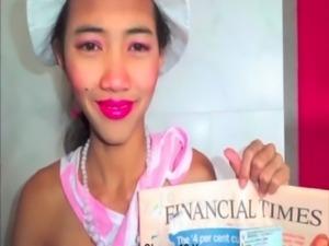 stickyasian18 Thai Cherry gags on cock to get Model job free