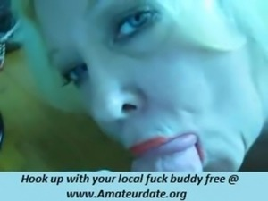 pretty grandmother blonde make fun with his young dude and make this video free