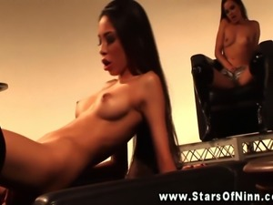 Alexis love gets her wet pussy eaten out while Renee Perz watches on