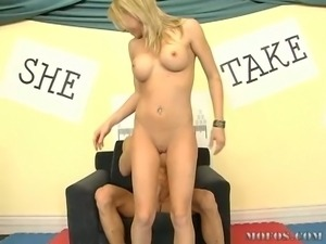 a young gergeous blonde have at it