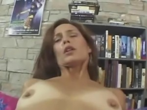 Beautiful anus sex with bushy whore