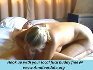 so pretty blonde milf wife make a hell of blowjob when parents are out of...
