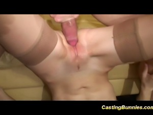 Casting blonde bunny fucked