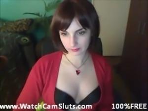 Hot Brunette Masturbates With Her Dildo free