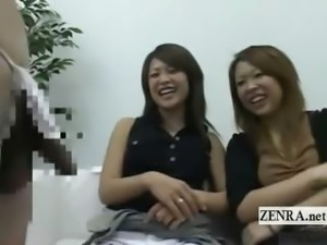Subtitled CFNM Japanese penis in lingerie appreciation
