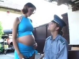 Pregnant girl gets it hard free