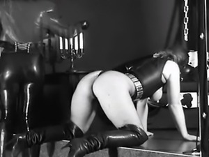 I really like the clothes, the image grain, the domme attitude, and the sub...