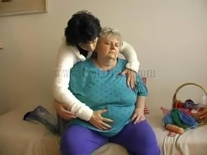 fat old granny with her new girlfriend.