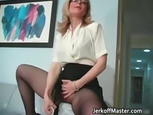 Sexy MILF Nina Hartley stripping part2