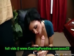 Dylan Ryder amazing brunette blowjobs at work