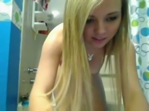 blonde teen shower bathroom fun free