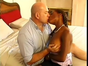 black midget likes sucking white cock
