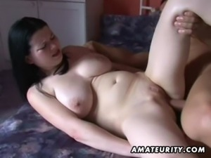 Busty amateur girlfriend anal action with cumshot free