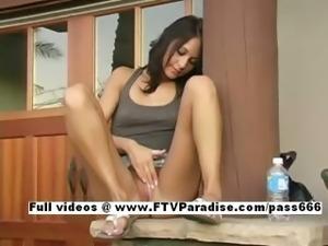 Vanesa funny stunning babe toying