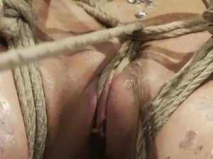 the punishment with hot wax makes her aroused