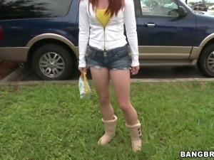 hot redhead that take a ride in the bang bus
