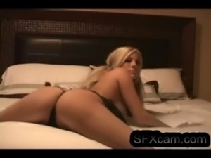 Sexy blonde doing cam show in her bedroom. hot pussy and ass SFXcam.com free