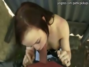 Hot amateur Czech girl Bianka paid for anal sex in public