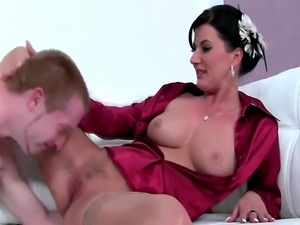 Office sex with busty mature in audition