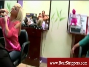 Cfnm stripper party with blowjobs at the hairsalon free