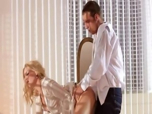 sweet blondie fucking hard in bedroom