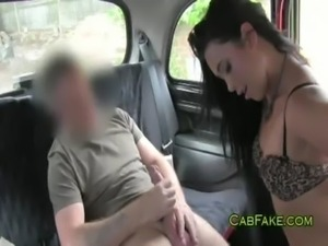 Dude eats and fucks shaved pussy in taxi free