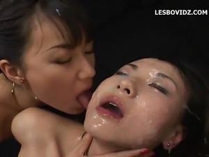 Chinese lesbian bukkake